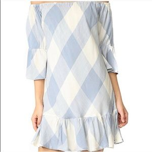 Tularosa Blue and White Mini Dress